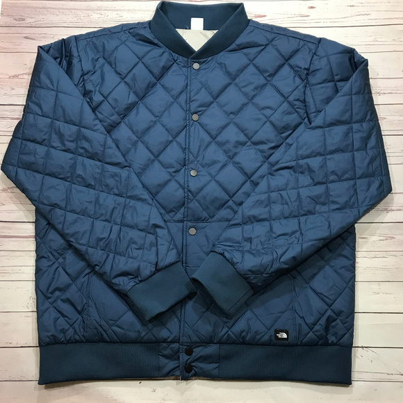 112e5eae198f The North Face Mens Jester Jacket Bomber Blue Gray